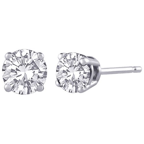 14K White Gold with 0.50ct White Round Diamond Stud Earrings  iwantthisformom