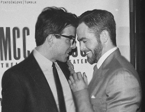 Zachary Quinto and Chris Pine. The most amazing best friends ever.