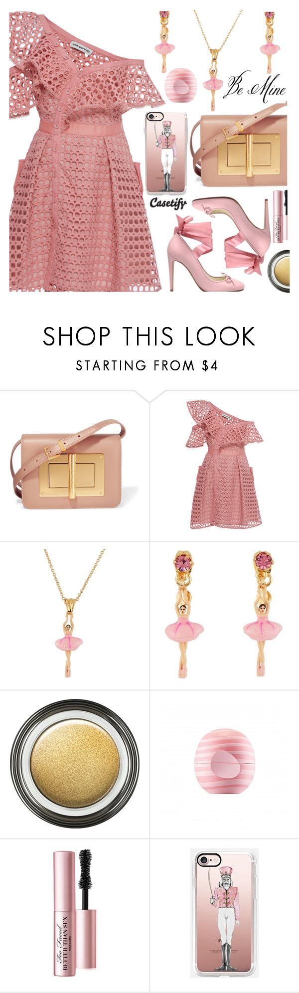 """CASETIFY - BALLERINA"" by deborah-calton ❤ liked on Polyvore featuring Tom Ford, self-portrait, Les Néréides, Giorgio Armani, Casetify, Eos, Too Faced Cosmetics, PinkDress, valentinesday and valentinedress"
