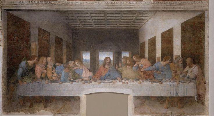 Ultima Cena Autore:Leonardo Da Vinci Data:1494-98 Dove:Refettorio Di Santa Maria Delle Grazie,Milano