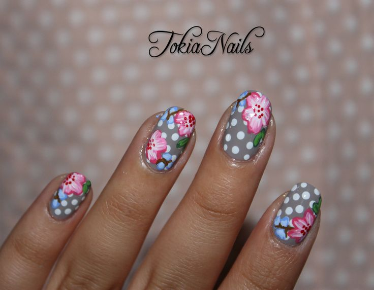 37 best My floral Nail art images on Pinterest | Floral nail art ...