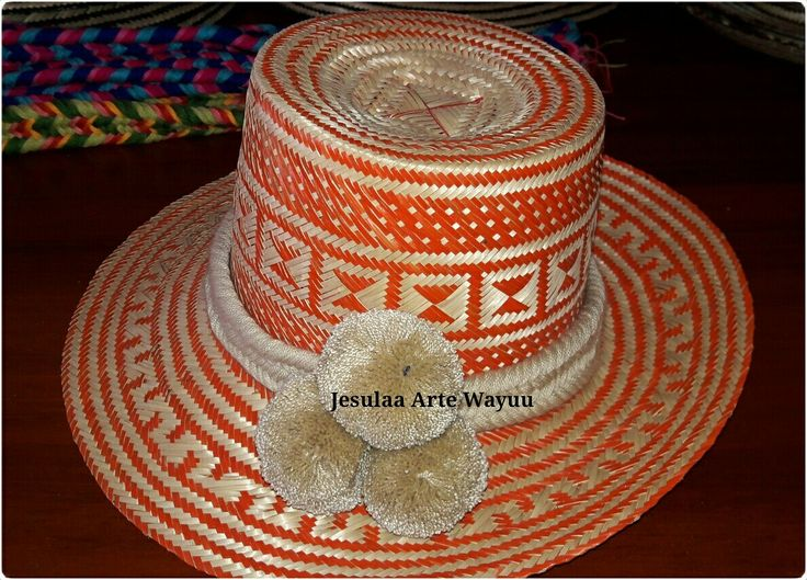 Wayuu hat in orange colour
