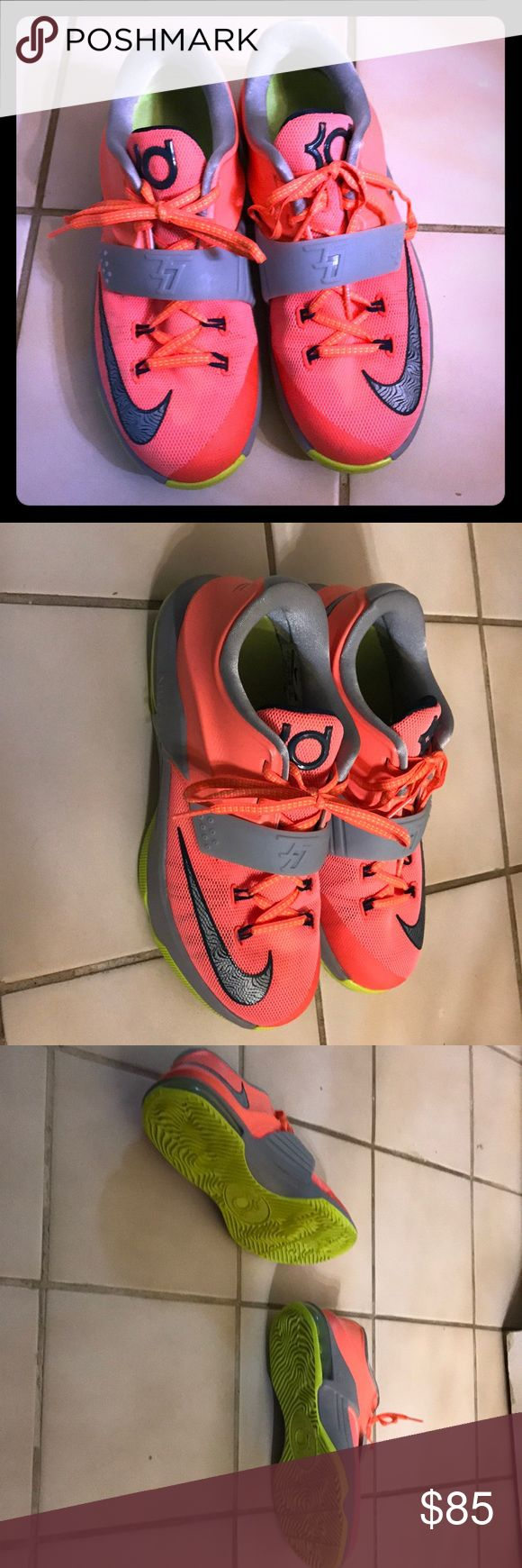 KD basketball shoes KD basketball shoes. Only worn a couple times and great coral color. Nike Shoes Sneakers