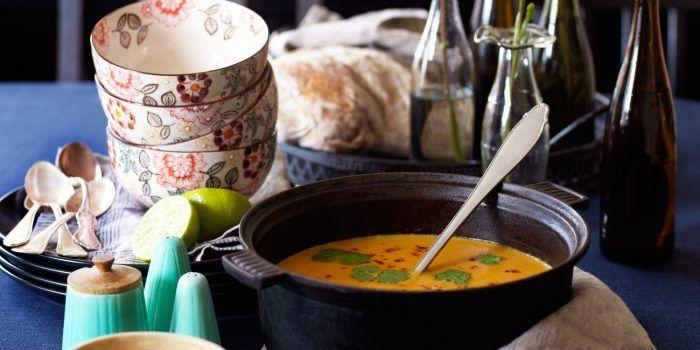 Pumpa- och morotssoppa – supergod soppa till Halloween