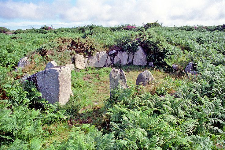 "August 19ht, 1996. At The""Iron Age Settelement"", Hut F. by,  ted motler. West Penwith, Cornwall."