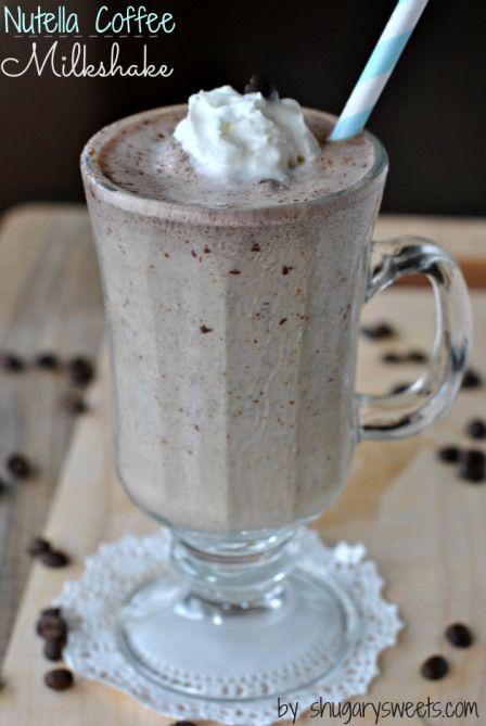 Nutella Coffee Milkshake | Community Post: 45 Life Changing Nutella Recipes
