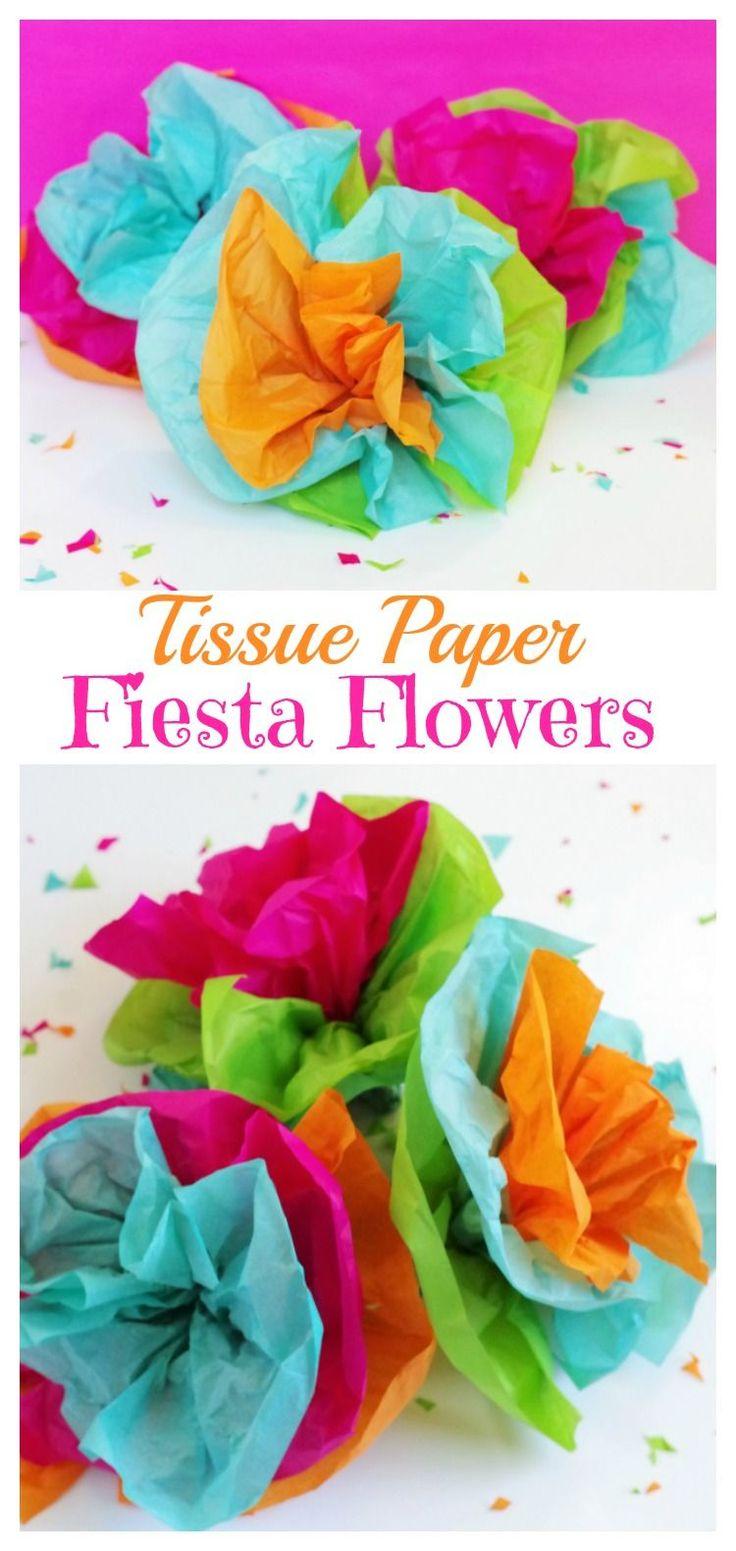 Tissue Paper Fiesta Flowers