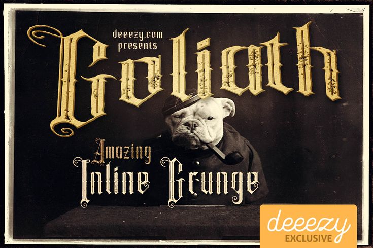 Goliath Inline Grunge Font | Deeezy - Freebies with Extended License