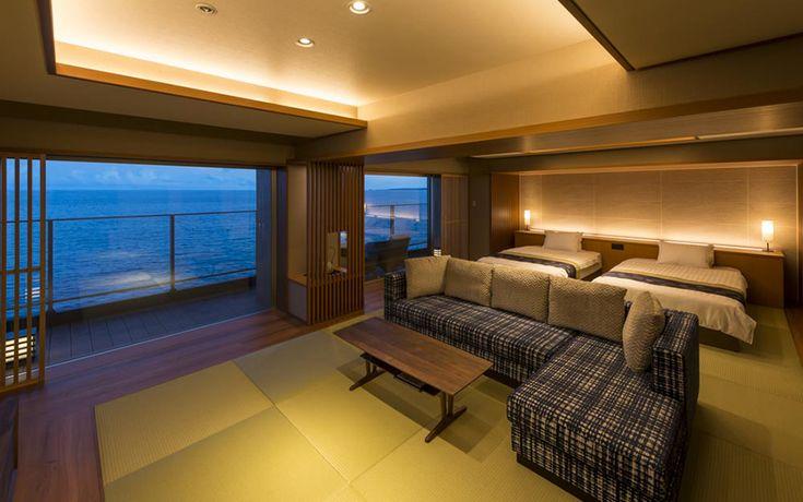 伊豆の海を臨む和のエグゼクティブルーム | ホテル・旅館のリノベーションは石井建築事務所・熱海/リフォーム・改修・改築・設備投資