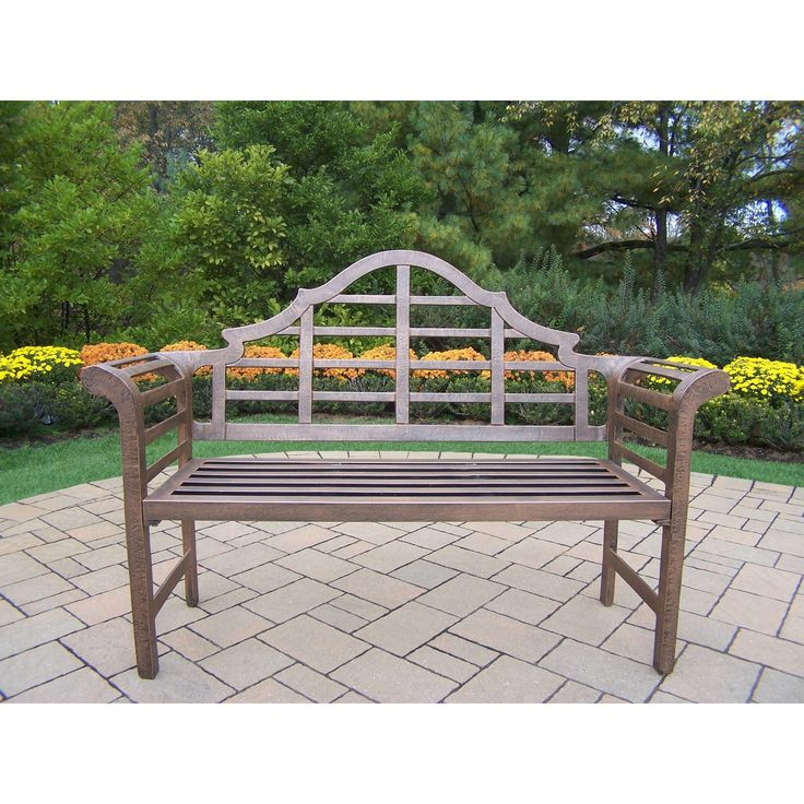 King Louis Cast Aluminum Bench By Oakland Living Corporation. Metal Outdoor  ...