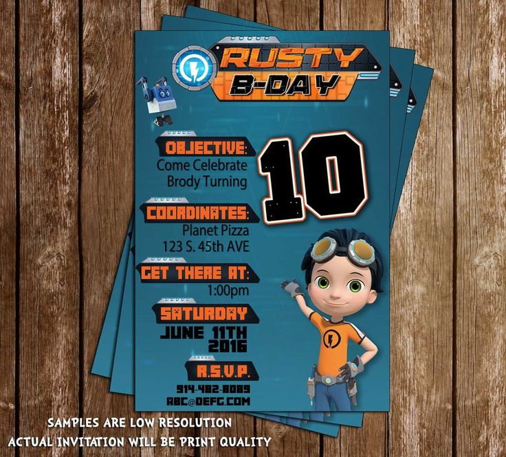 8 best rusty rivets party images on pinterest 3 years 3rd novel concept designs rusty rivets nick jr birthday party invitations filmwisefo