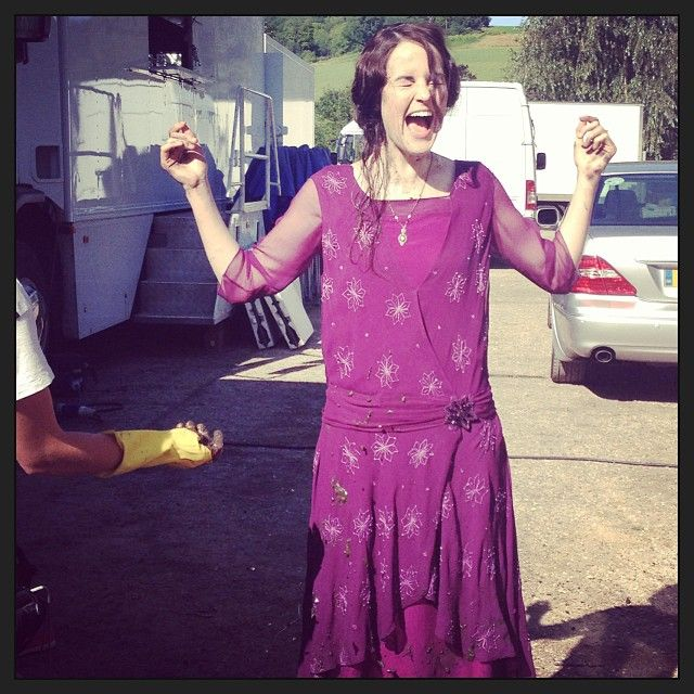 """new photo from Michelle Dockery's instagram - """"It was a muddy good day!"""""""