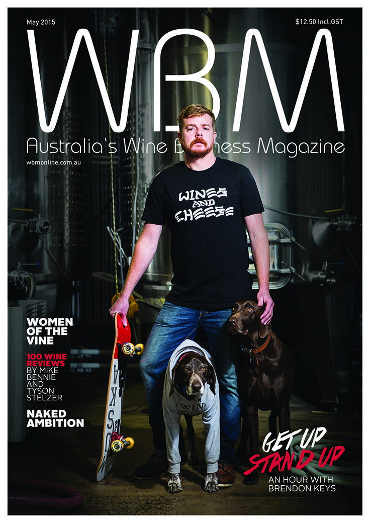 WBM May 2015 Issue cover, featuring Brendon Keys.