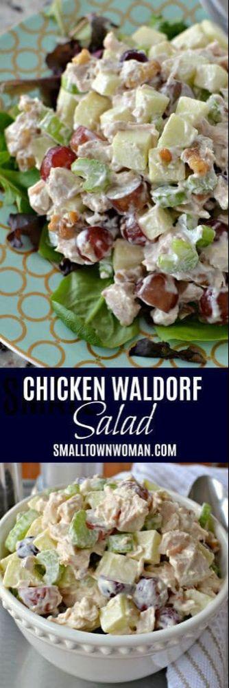 Waldorf Salad | Chicken Salad | Party Food | Chicken Recipe | Cold Chicken Salad | Small Town Woman #chickensalad #waldorfsalad #smalltownwoman