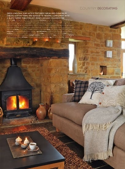 country decorating. Country Homes and Interiors...very cosy!