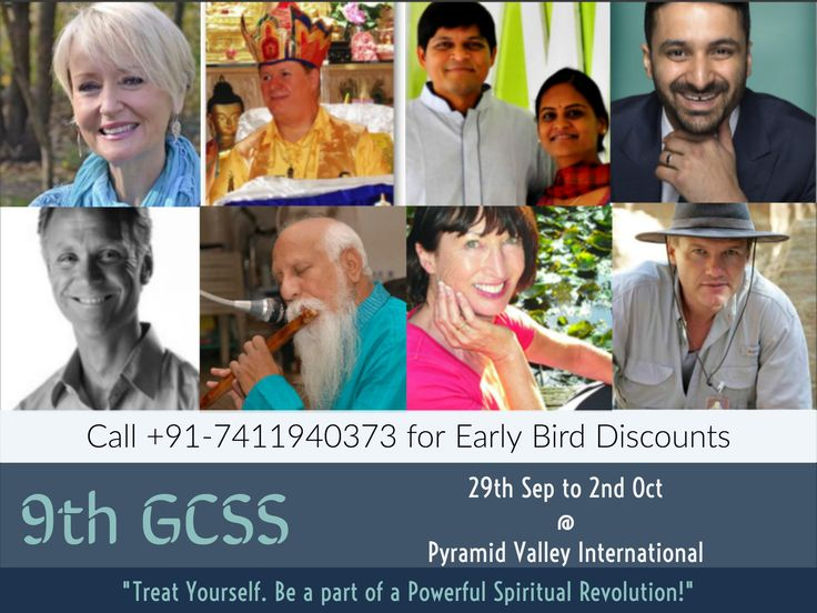 8 Masters   5 Countries   10 Sessions   1 Opportunity #GCSS2016   www.spiritualcongress.org   Call: +917411940373