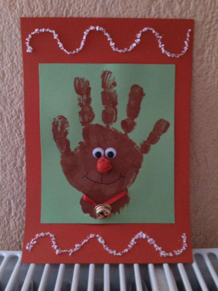 kids reindeer christmas card