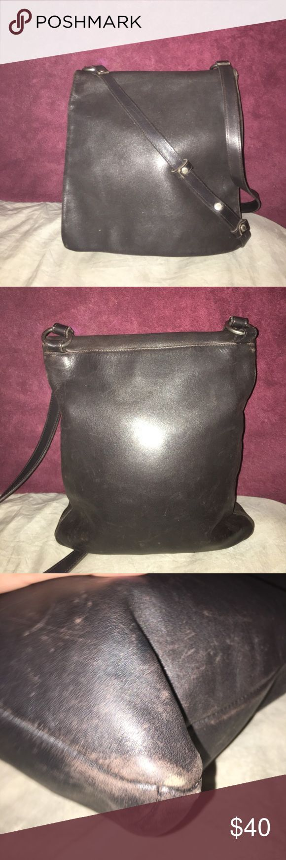 "Vintage Coach Legacy chelsea hippie flap crossbody color black show some scratches and fading super rare flap crossbody measurements are 11.5"" by 10"" Coach Bags Crossbody Bags"