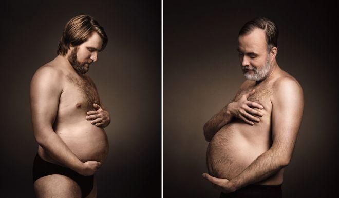 Nejlepší reklamní kampaň: Muži se fotí s pivními bříšky jako těhotné maminky - Evropa 2
