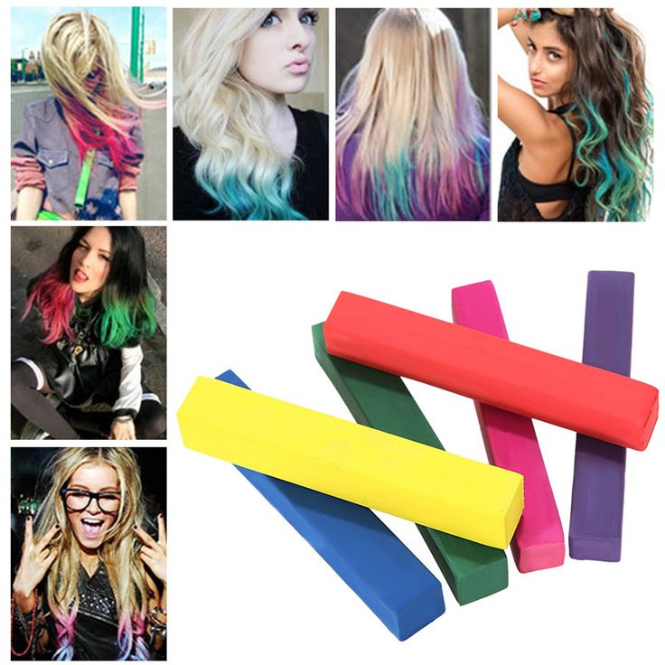 6 Colors Convenient Temporary Super Hair Dye Colorful Chalk Household Hair Styling Hair Color Practical Tool