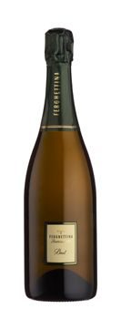 Ferghettina Franciacorta Brut is a rich sparkling wine with flavors of toasty almond and crisp apple