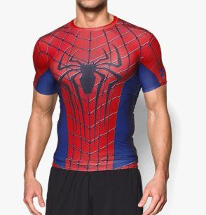 T-shirt Compression Under Armour® Transform Yourself Spider-Man pour homme