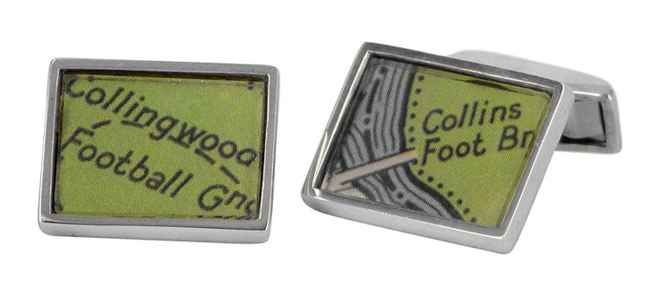 Collingwood and collins street directory cufflinks