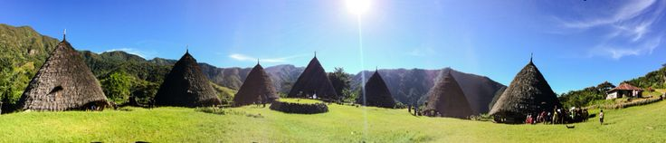Mbaru Niang is the name of these majestic traditional houses of Waerebo people. Loc: Waerebo village, flores