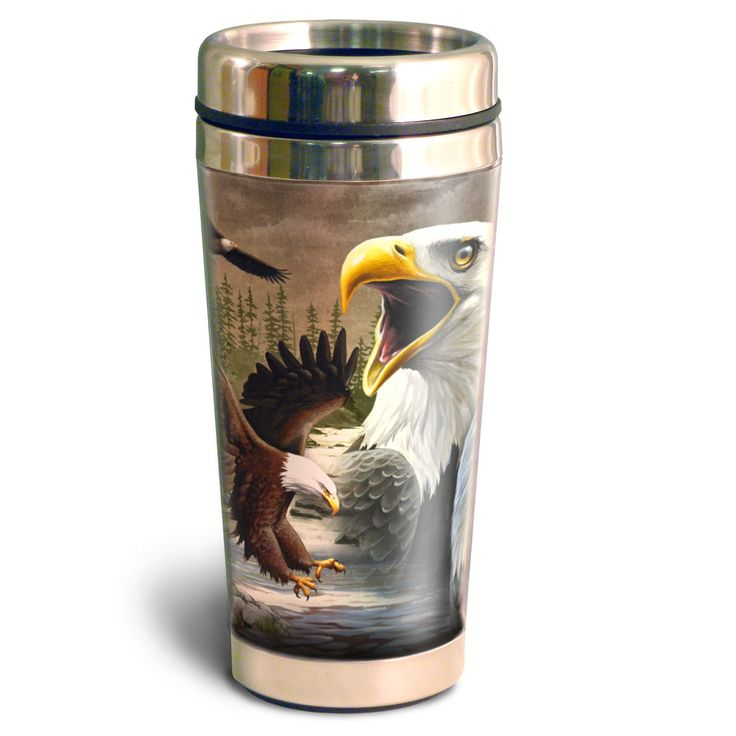 American Expedition 16oz Steel Travel Mug Bald Eagle Collage American Expedition Mugs Travel Mug
