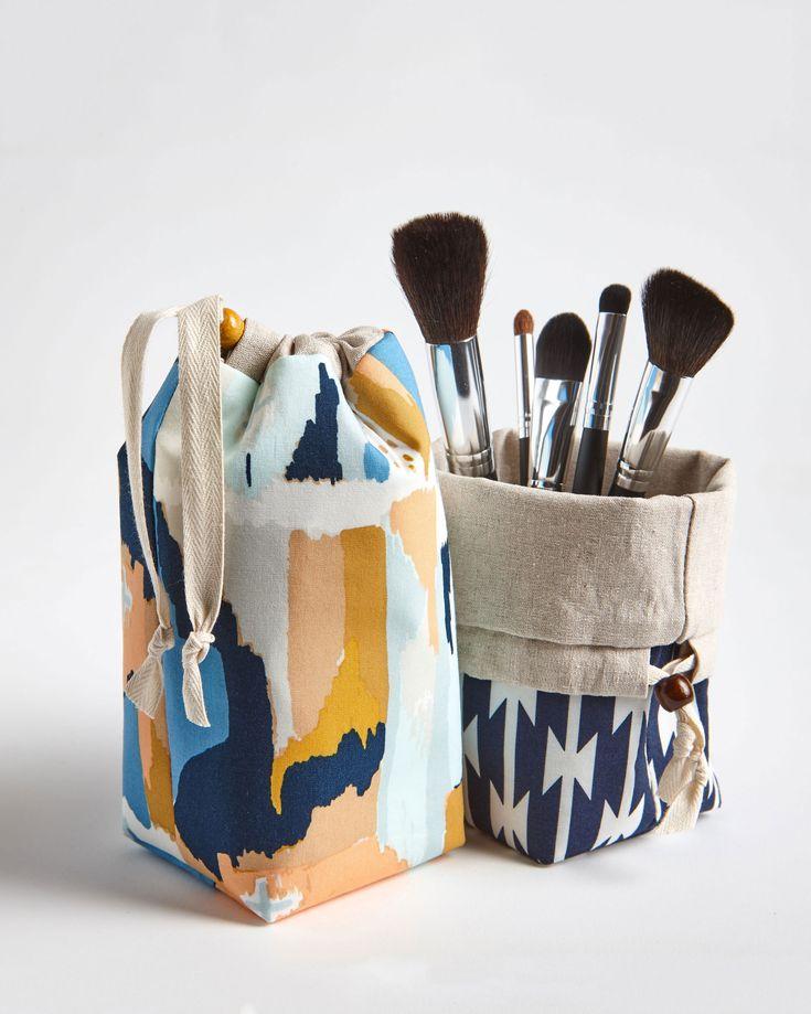 Travel Makeup Brush Holder, Makeup Brush Pouch, Makeup Bag by MadeOnMainVT