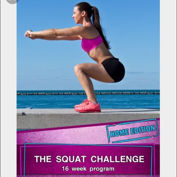 The Squat Challenge - 16 week - Home edition Selling 16 week home edition E-book. I will email it to you with the nutrition guide once purchased. Other