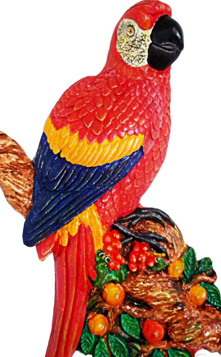 Como pintar una Guacamaya en ceramica
