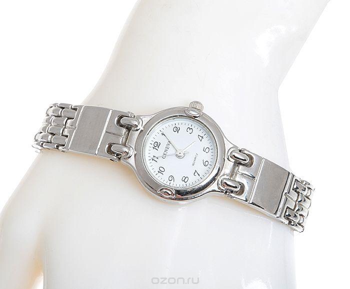 Женские наручные часы Серебряный век от компании Geneva. Кварцевый механизм. Нержавеющая сталь серебряного цвета, минеральное стекло. Китай, 2000-е годы