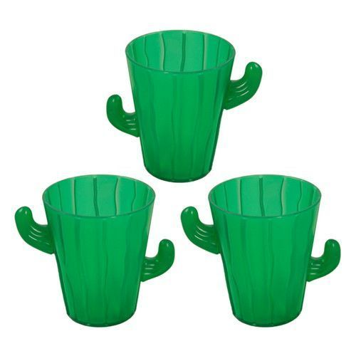 Mini Cactus Shot Glasses (12 per Pack)!  Perfect for a Fiesta Party!