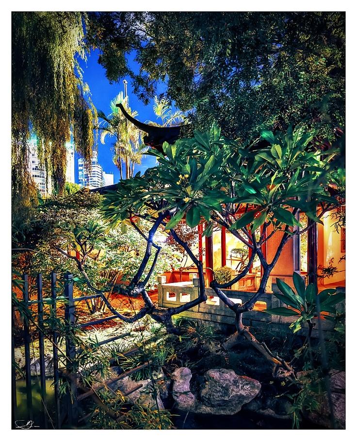 Chinese Gardens at Nite III by mdomaradzki.deviantart.com on @deviantART
