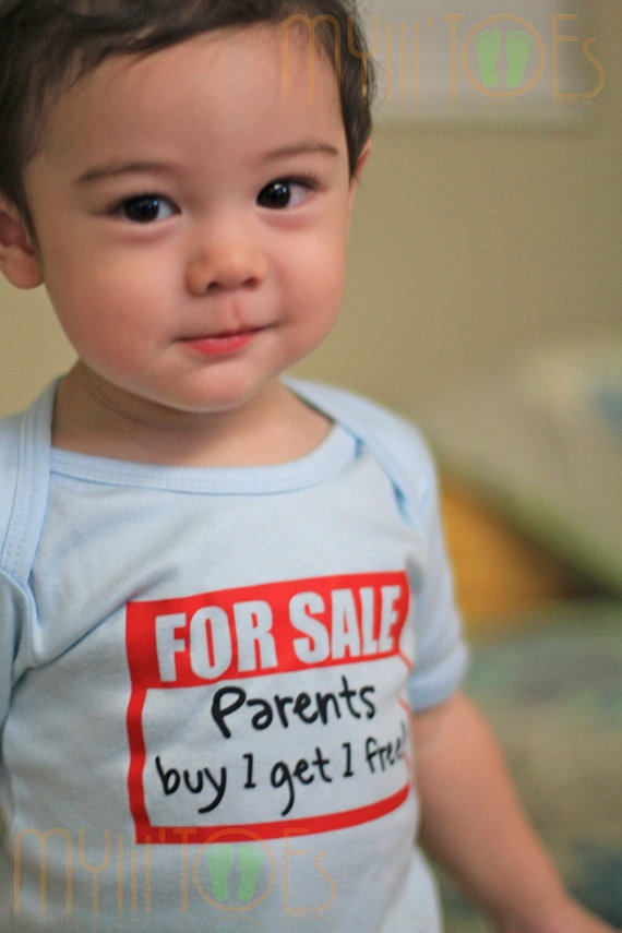 Funny Onesie or Shirt Parents 4 Sale  Buy 1 Get 1 by MyLiLTOES, $12.50