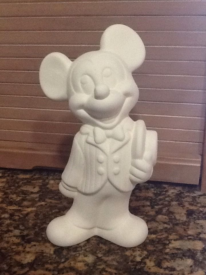 Details About Mickey Mouse Disney Ceramic Bisque U Paint