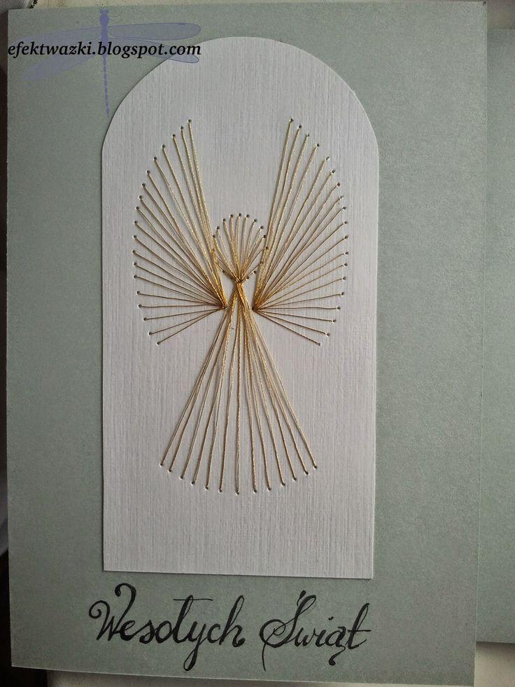 Z najlepszymi życzeniami w świat do najbliższych poszły kartki. Niesione przez anioły. Technika była wymagająca: haft matematyczny. Chociaż...