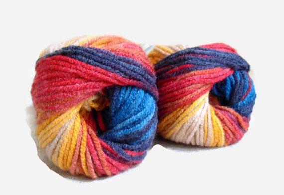 Alize multicolor yarn  acrylic  yarn  1 Skein  by Yarnshopping