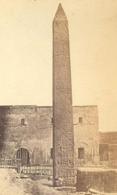 Photograph of Cleopatra's Needle at Alexandria, 1869 Cleopatra's Needle is the popular name for each of three Ancient Egyptian obelisks re-erected in London, Paris, and New York City during the nineteenth century. Although the needles are genuine Ancient Egyptian obelisks, they are somewhat misnamed as they have no particular connection with Queen Cleopatra VII of Egypt, and were already over a thousand years old in her lifetime