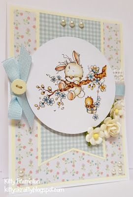 Made for Crafts Beautiful Magazine using Wee Stamps Spring Meadow Toppers by The Hobby House.