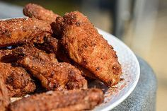 Memphis Dry Rub Wings Crispy, juicy grilled wings are given the Memphis dry rub treatment to create a uniquely earthy, spicy, and herbal flavor with a slight tang to back it up.