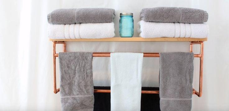 Wieszak na ręczniki do łazienki DIY