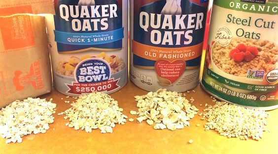 Types of Oatmeal. There are several different types of oatmeal, nutritionally the same but there are other differences including cooking time...