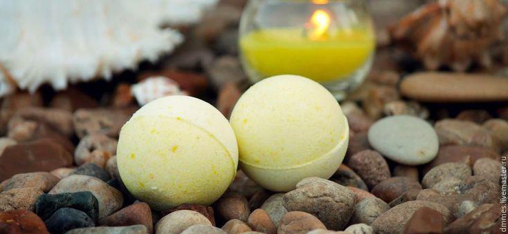 """Купить Бомбочка """"Иланг-иланг и лимон"""" - лимонный, бомба для ванны, иланг-иланг и лимон"""