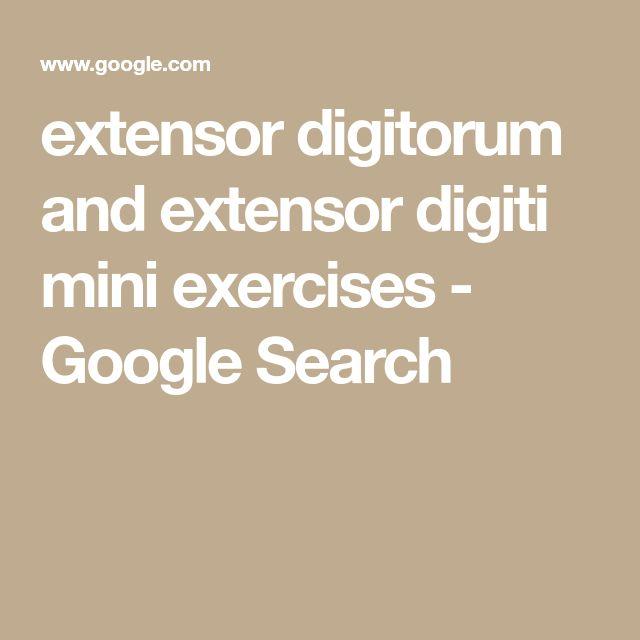 extensor digitorum and extensor digiti mini exercises - Google Search