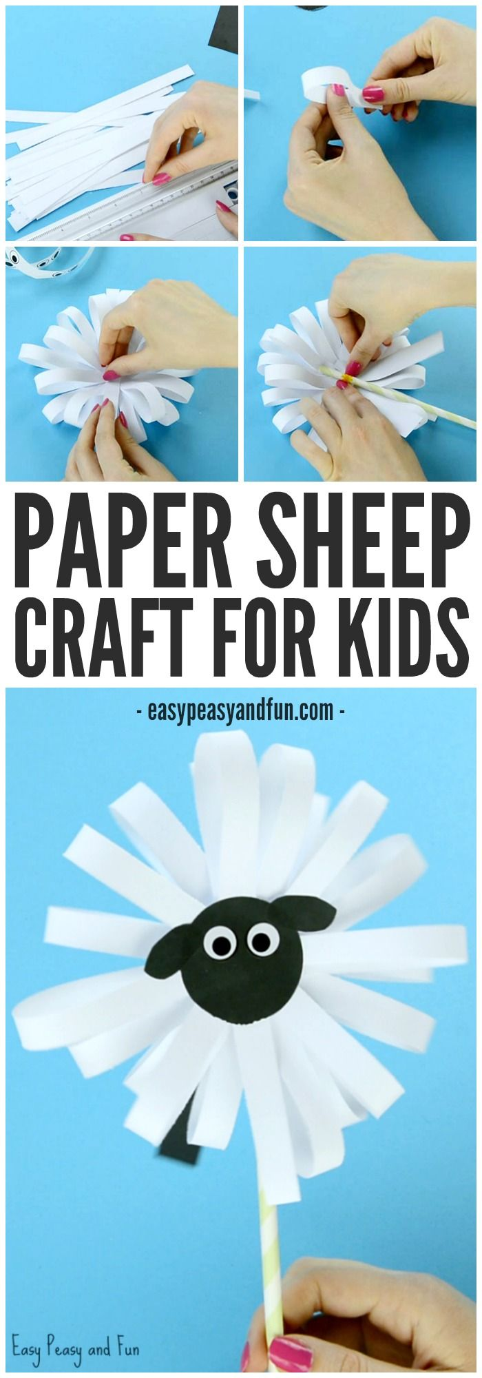 Paper Sheep Craft! A cute little sheep for kindergartners to make this spring!