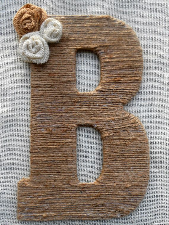 Large Twine Letter  Monogram Wreath by EnglishBliss on Etsy, $26.00