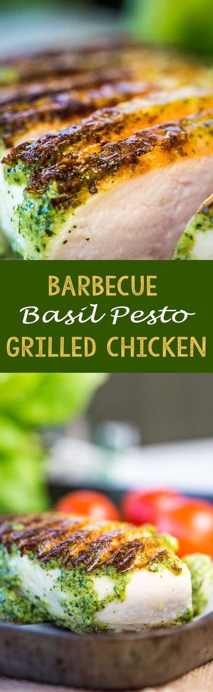 The perfect easy thing to make on a summer night on the grill! Basil Pesto Grilled Chicken. Delicious! - Eazy Peazy Mealz