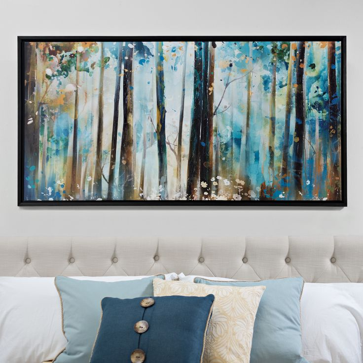Charming Forest Sunshine Framed Canvas Art Print Amazing Pictures